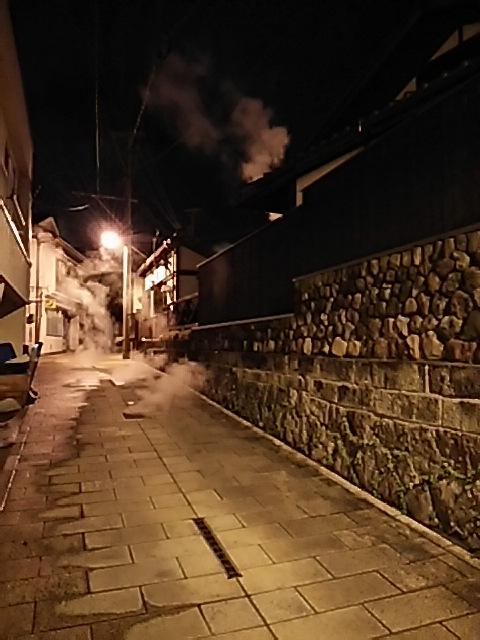 鉄輪温泉・湯けむり展望台から見た夜景