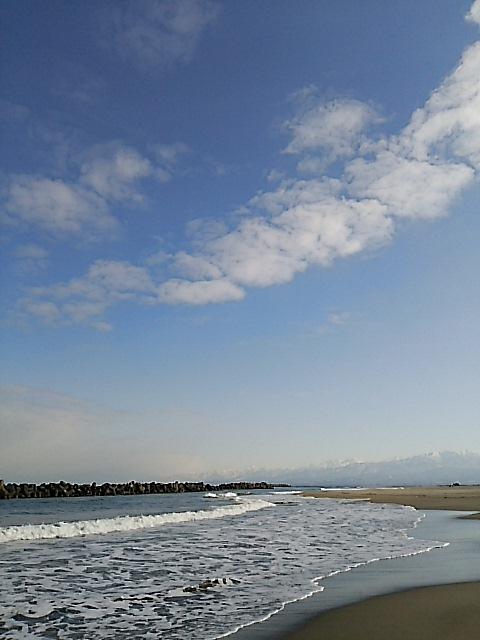 岩瀬浜から見た立山連峰