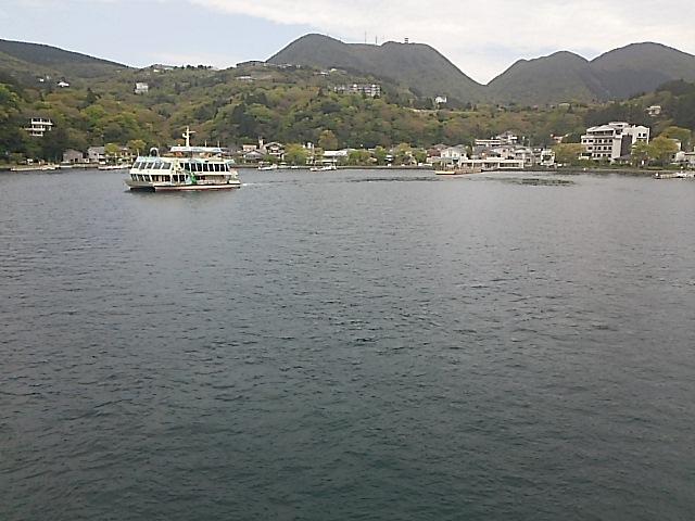 平常運航する箱根芦ノ湖遊覧船